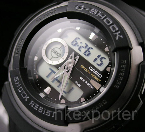 how to set analog time with gshock